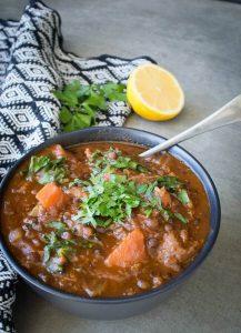 Lamb harira soup